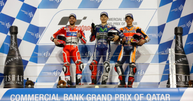 Il podio della MotoGP in Qatar